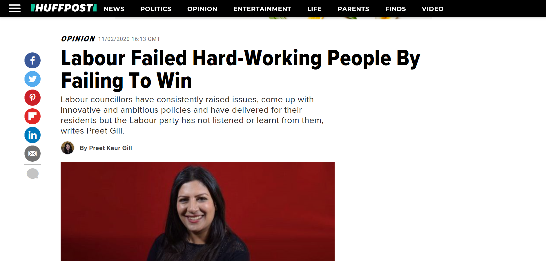 Preet Kaur Gill MP writes for HuffPost on the need for Labour to listen to Councillors.