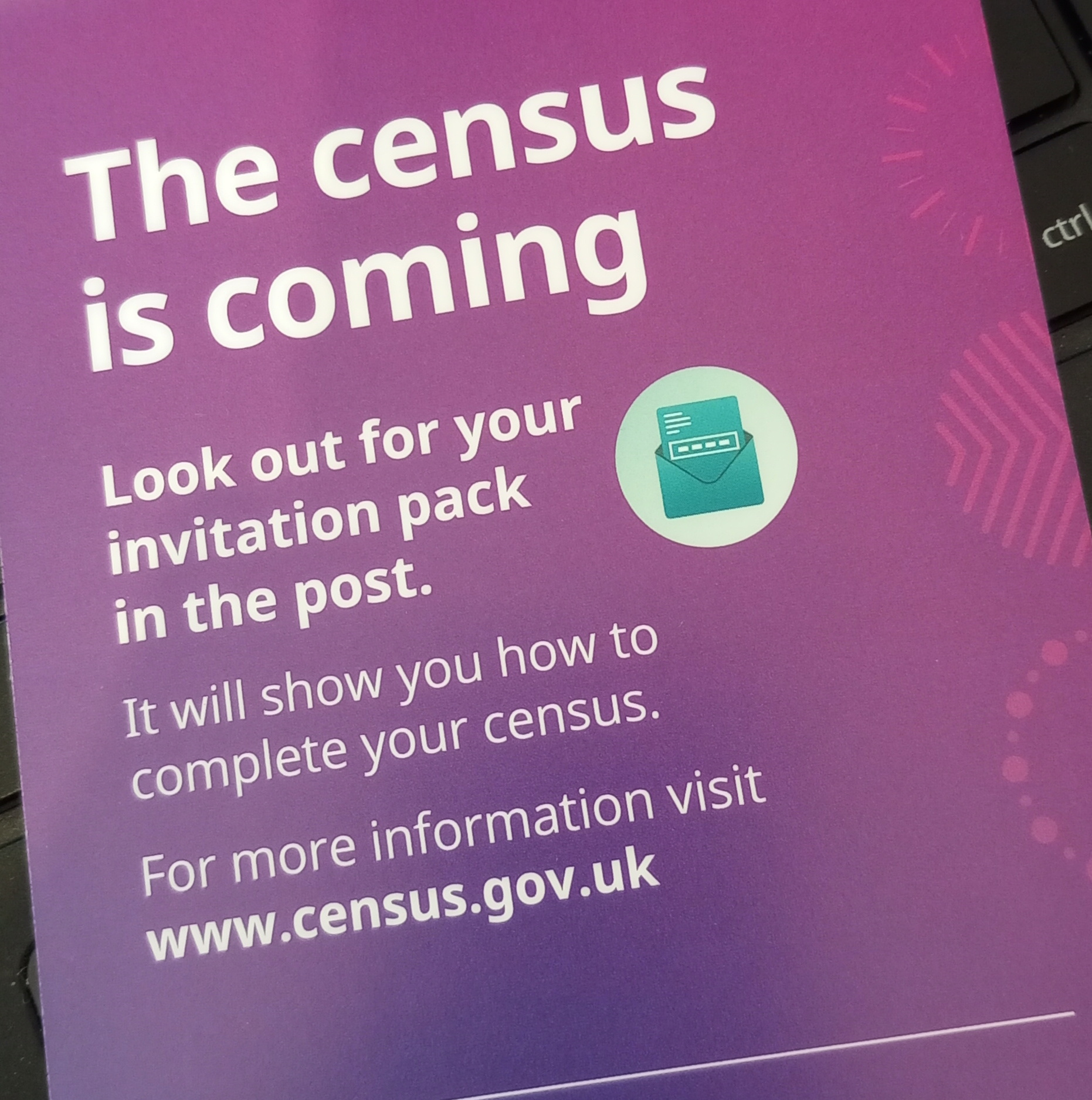 Census 2021 is coming. Look out for your invitation