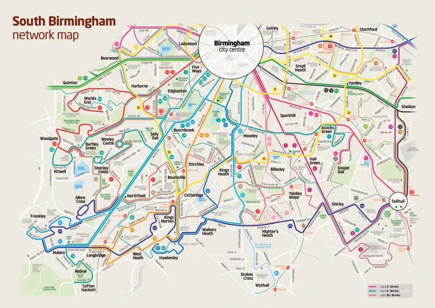 South Birmingham bus routes