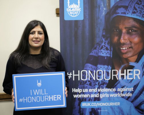 Preet Kaur Gill MP supporting Islamic Relief's 'Honour Her' campaign.