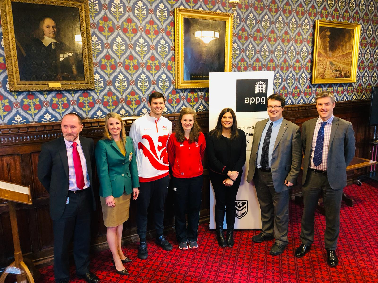 Preet Kaur Gill MP at launch of Commonwealth Games APPG.