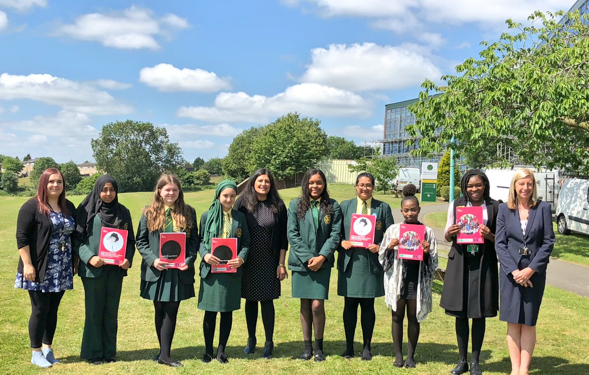 Preet and pupils from Hillcrest School