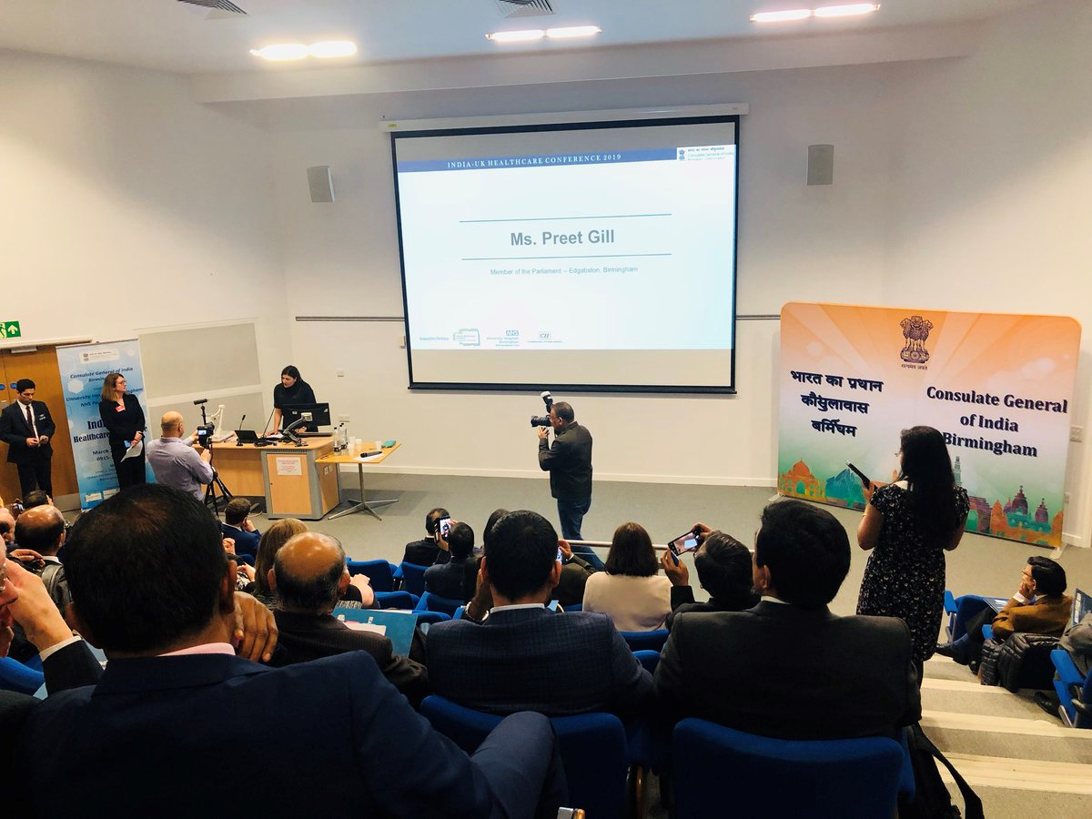 Preet Kaur Gill MP at the India-UK Healthcare conference.