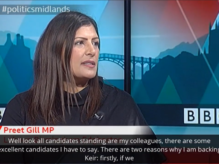 Preet explains why she is backing Keir for Labour leader on BBC Politics Midlands.
