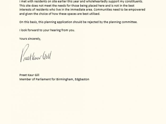 Page 3 of letter
