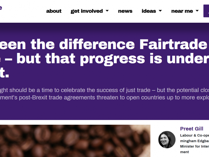 Preet Kaur Gill MP writes for the co-op party during Fairtrade Fortnight.