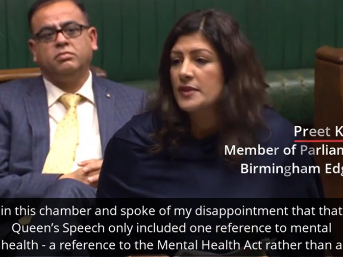 Preet speaks in the Queen's Speech health and social care debate on mental health.