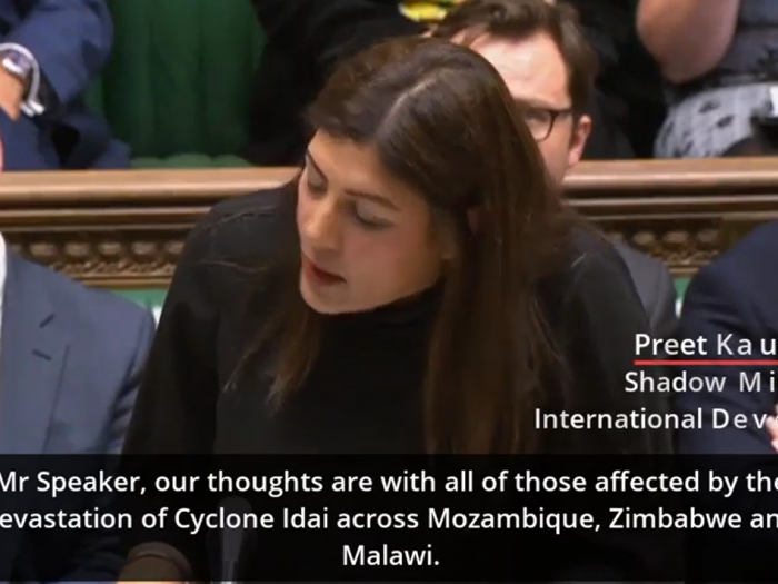 Preet Kaur Gill MP asking Dfid question on Mozambique.