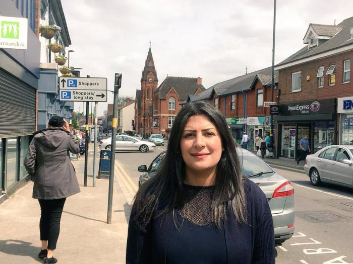 Preet on Harborne High Street.