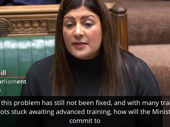 Preet Kaur Gill MP in defence questions.