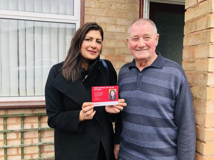 Preet Kaur Gill MP doorknocking in Bartley Green.