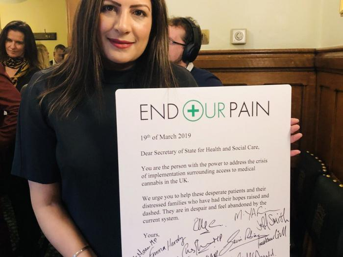 Preet Kaur Gill MP supports the 'End our Pain' medical cannabis campaign.