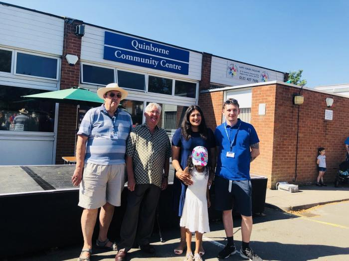 Preet Kaur Gill MP at Quinborne Community Centre