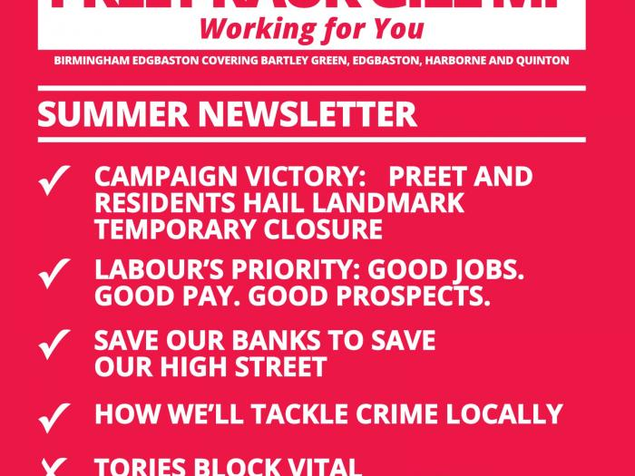 Image with list of articles from Preet's Summer newsletter