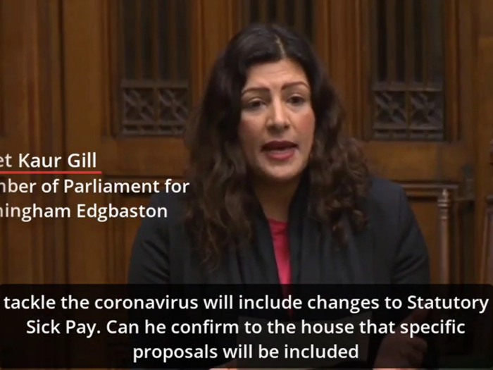 Preet Kaur Gill MP asks a question to the Health Secretary on Statutory Sick Pay for low paid workers.